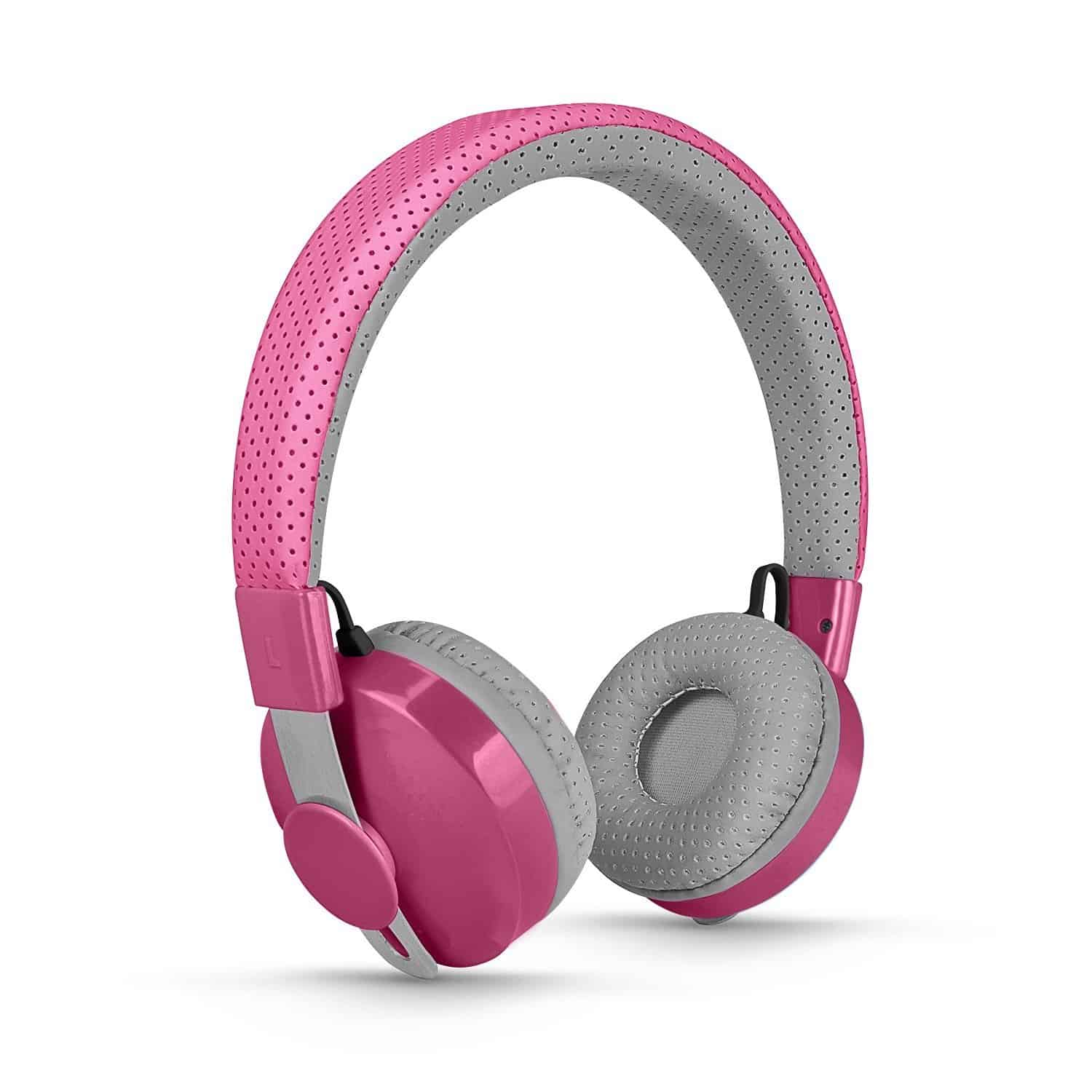 kids 39 wireless bluetooth pink headphones think pink. Black Bedroom Furniture Sets. Home Design Ideas